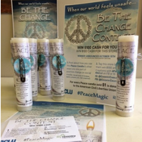 Peace Candle - Be the Change Social Media Contest Box
