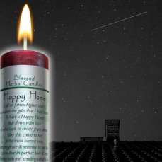 Happy Home/Peace and Serenity Blessed Herbal Candle