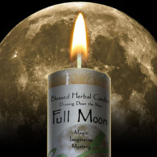 Full Moon Drawing Down the Moon Candle