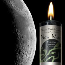 New Moon Drawing Down the Moon Candle