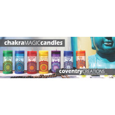 Chakra Magic Candle shelf talker