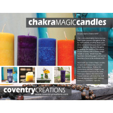 Chakra Magic Candle sign Point of purchase