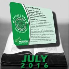 Golden Ticket Spell Caster Card