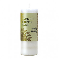 World Magic Sacred White Sage Candle