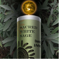 Sacred White Sage World Magic Candle
