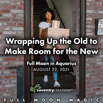 Full Moon in Aquarius on August 22, 2021