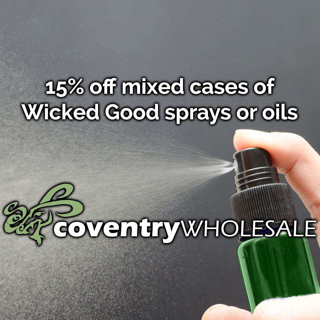15 off mixed cases Wicked good sprays and oils April WS Feature